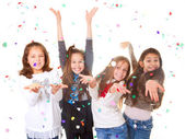 children celebrating party