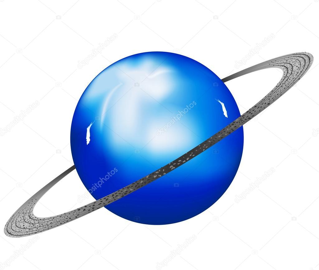 Картинка планета уран на прозрачном фоне