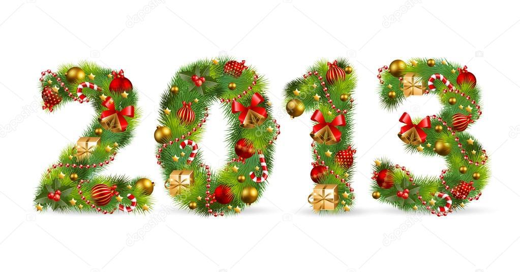 2013, Christmas tree font