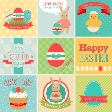 Easter scrapbook set - labels