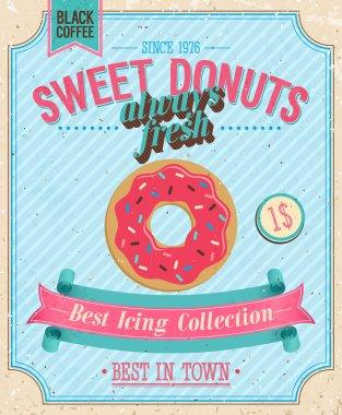 Vintage Donuts Poster.