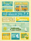 Fotografie Vintage summer holidays and beach advertisements.