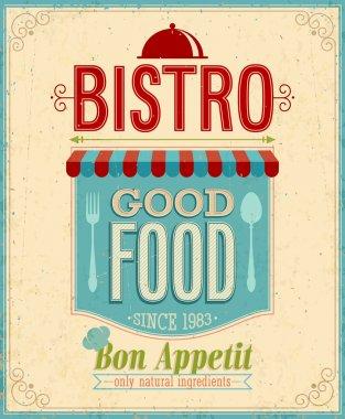 Vintage Bistro Poster.