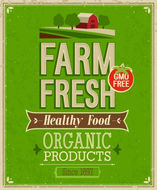 Vintage Farm Fresh Poster.