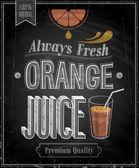 Fotografie Vintage Orange Juice - Chalkboard.