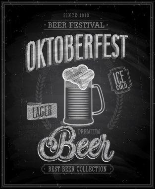 Vintage Beer Brewery Poster - Chalkboard.