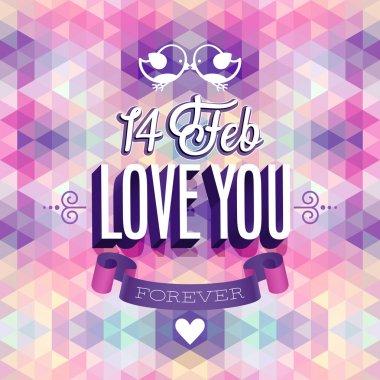 Valentines day Poster. Vector illustration. clip art vector