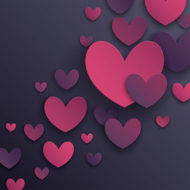 Valentines Day abstract background. Vector illustration. clip art vector