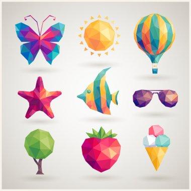 Summer set - geometric icons.