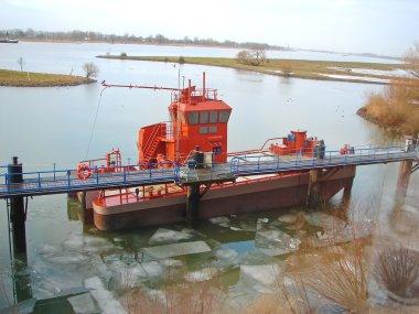New tugboat near the pier. Gorinchem, The Netherlands