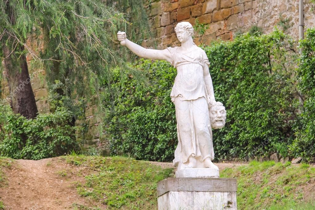 Sculpture In The Boboli Gardens Florence Italy Stock Photo