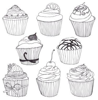 Cupcake color set