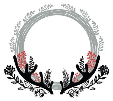 Merry cristmas round frame