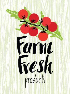 Farm fresh design card