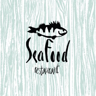 Sea Food design card