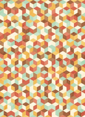 Retro pattern of geometric shapes.