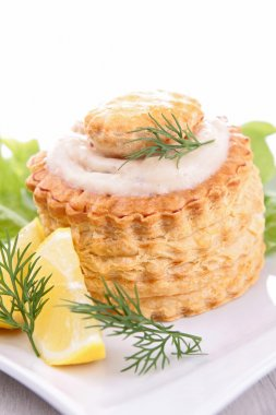 Puff pastry with shrimp