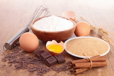 assortement of baking ingredients