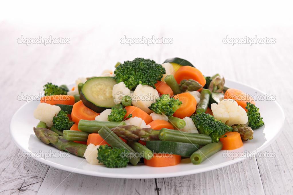 Prato de vegetais — Stock Photo © studioM #28081103