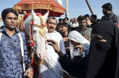 Mourning procession in connection of Chehlum (Fortieth Day Mourning Commemoration) of Hazrat Imam Hussain (A.S)