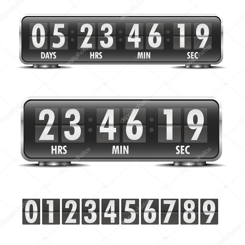countdown z hler stockvektor unkreatives 38758303. Black Bedroom Furniture Sets. Home Design Ideas