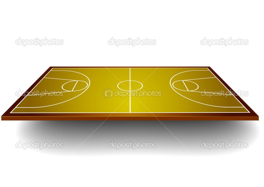 terrain de basket avec perspective image vectorielle unkreatives 39805645. Black Bedroom Furniture Sets. Home Design Ideas