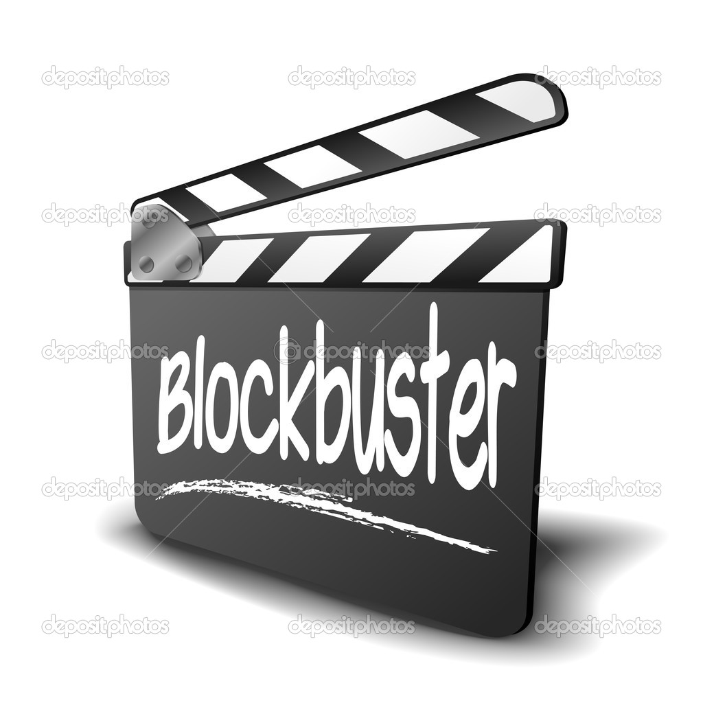 Clapper Board Blockbuster — Stockvektor © unkreatives #48798123