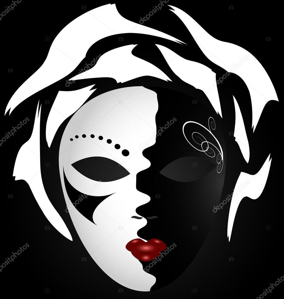 Черно белые видео маски