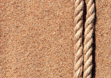 Sand background with rope