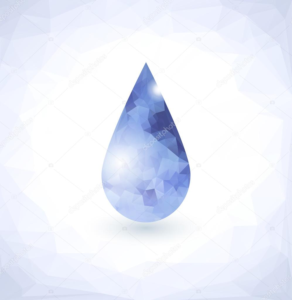 Diamond in Water drop