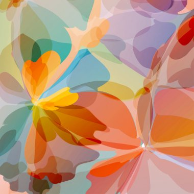 Multicolored Original Watercolor Flower Painting Background, Vectors Eps10, Contains Transparent Objects clip art vector