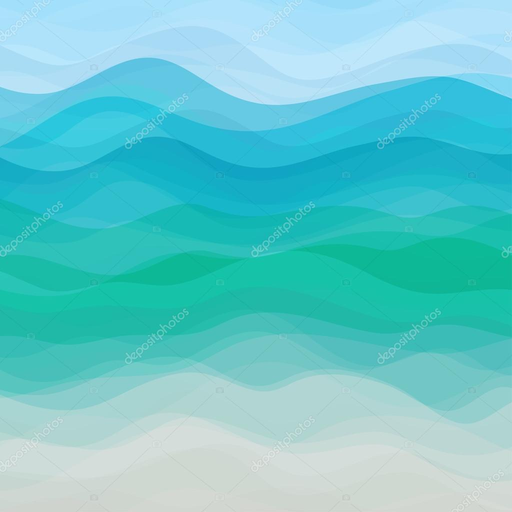 Abstract Vector Blue Wavy Background