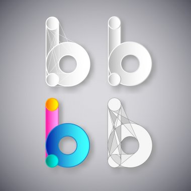 Abstract Vector Combination of Letter B