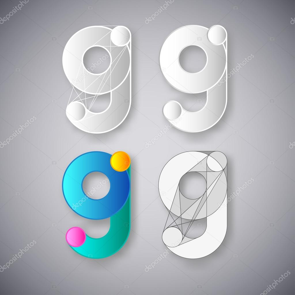 Abstract Vector Combination of Letter G