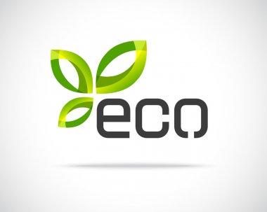 Abstract Vector Eco Green Leaf Logo Design Template. Creative Ecology Concept Icon stock vector