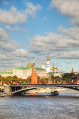 Overview of Kremlin in Moscow