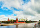 Photo Panoramic overview of downtown Moscow with Kremlin