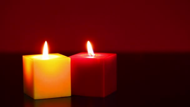 Two burning candles