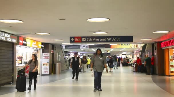 Penn station with people