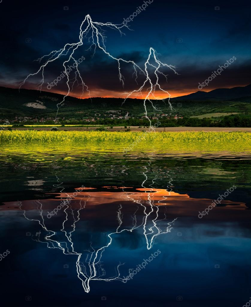 Storm with lightning