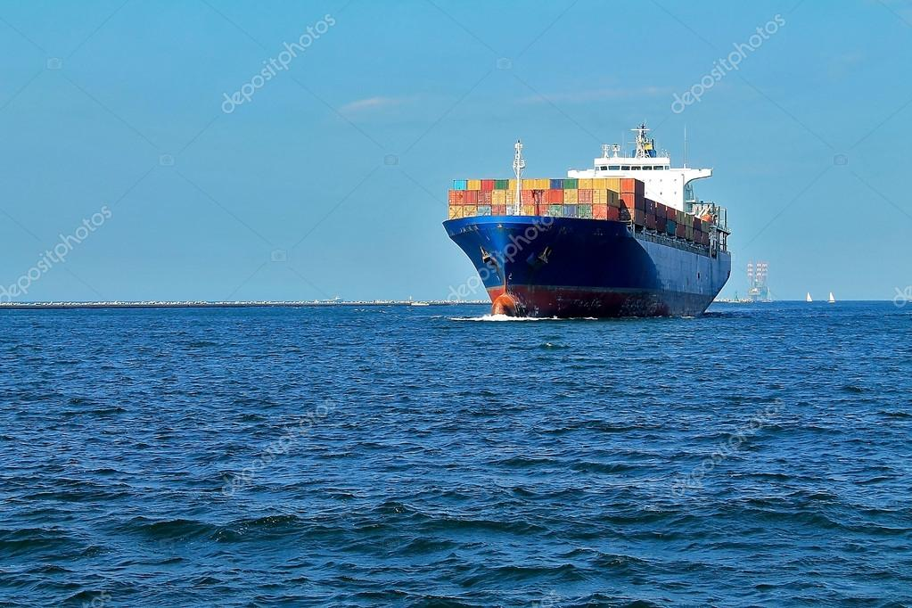 Cargo ship is in port