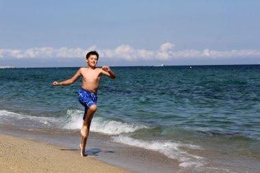 Boy on summer holidays