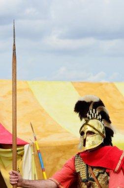 Roman Sentry guarding tent