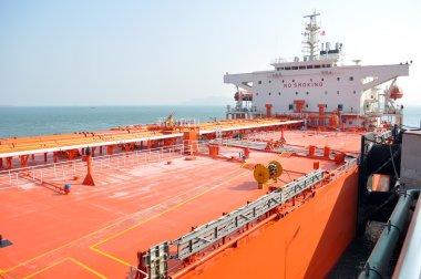 Oil tanker docked