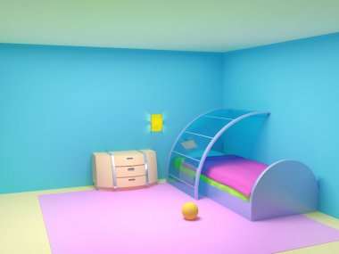 Futuristic child bedroom