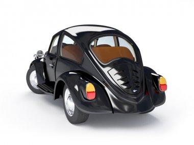 Retro black car back
