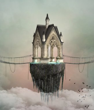 Fantasy flying house