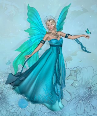 Blue fairy queen