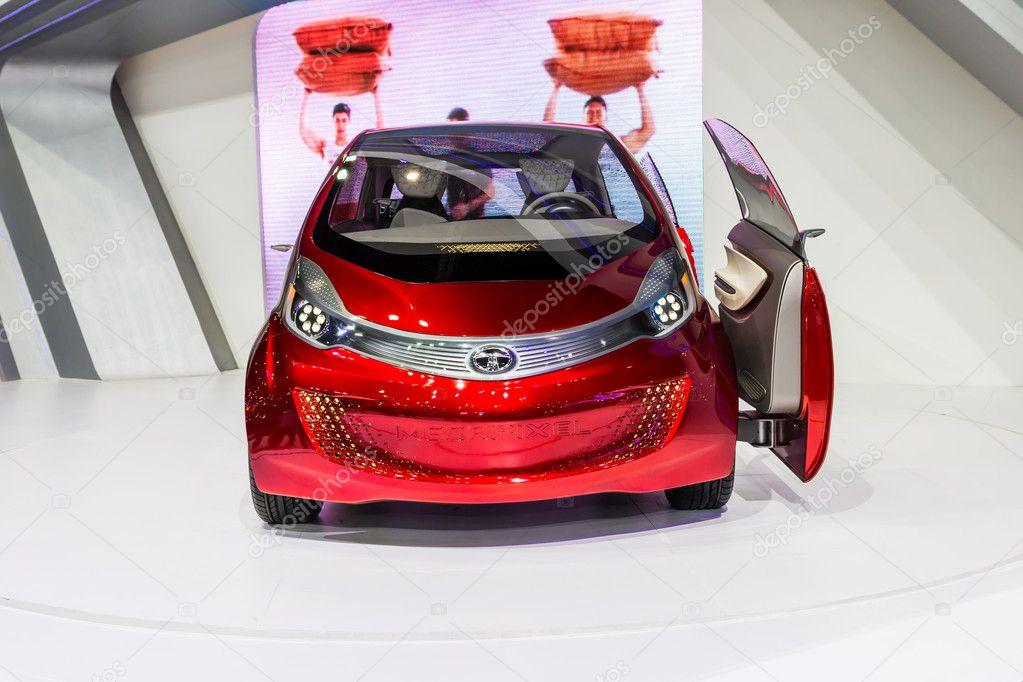 Bangkok Dec 03 Tata Megapixel Electric Eco Concept Car On Disp