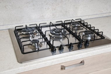Gas oven with five rings